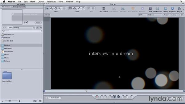 Working in real time: Motion: Principles of Motion Graphics