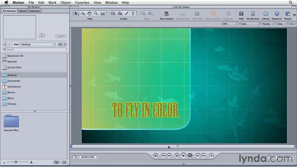 Exploring the use of color in motion graphics: Motion: Principles of Motion Graphics