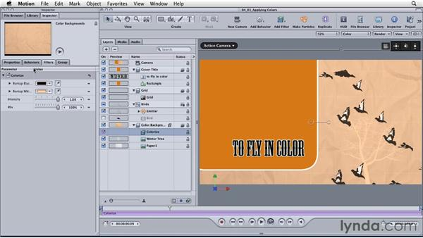 Applying colors to motion graphics: Motion: Principles of Motion Graphics