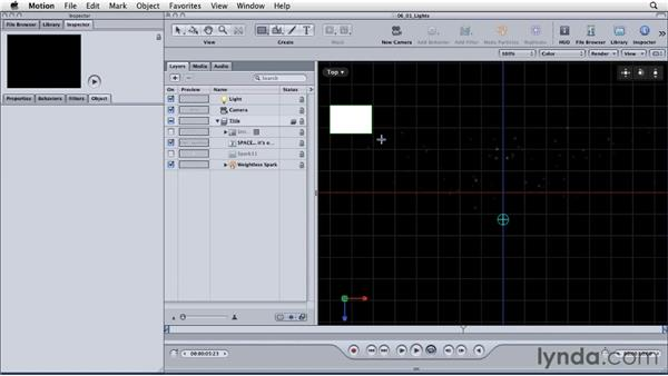 Using material settings to enhance lighting: Motion: Principles of Motion Graphics