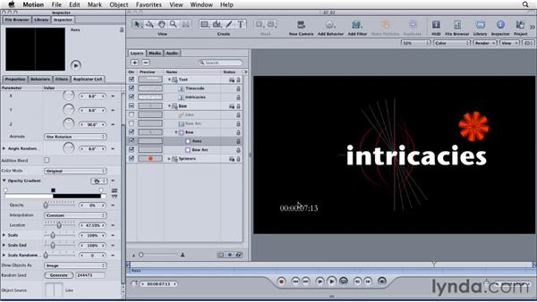 Creating and using markers to sync animation with audio: Motion: Principles of Motion Graphics