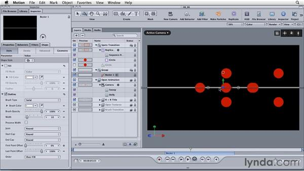 Polishing the animation and timing: Motion: Principles of Motion Graphics