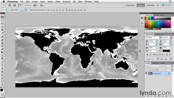 Preparing a map for animation: Motion: Principles of Motion Graphics