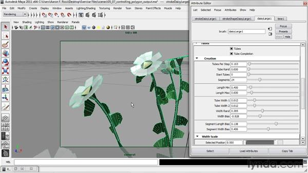 Controlling polygon output: Creating Natural Environments in Maya