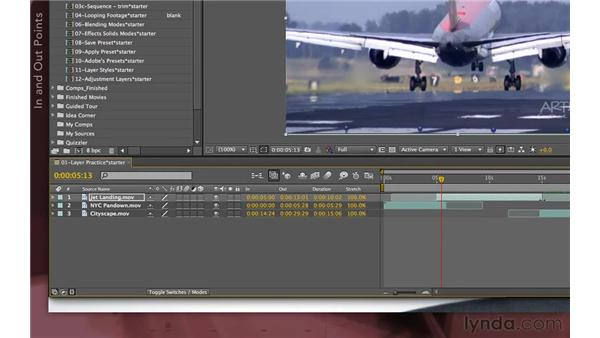Stacking and sliding layers: After Effects Apprentice 04: Layer Control