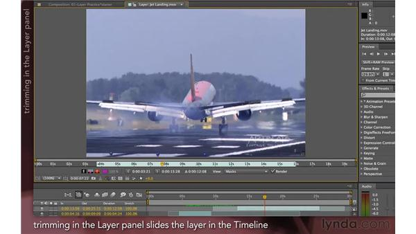 Trimming in the Layer panel: After Effects Apprentice 04: Layer Control