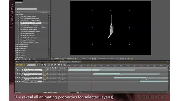 Using sequence layers with objects: After Effects Apprentice 04: Layer Control