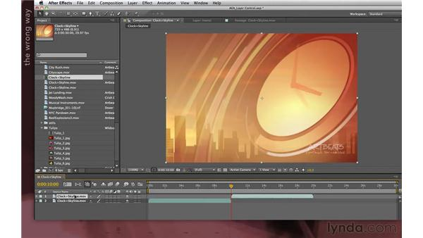 Looping footage: After Effects Apprentice 04: Layer Control