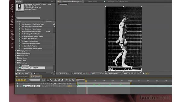 Using Time Stretch vs. altering frame rates: After Effects Apprentice 04: Layer Control