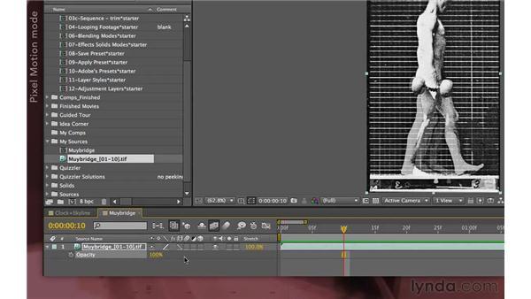 Frame blending: After Effects Apprentice 04: Layer Control