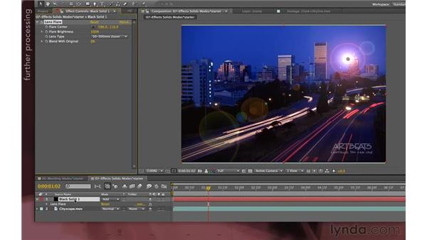 Why apply effects to solids?: After Effects Apprentice 04: Layer Control