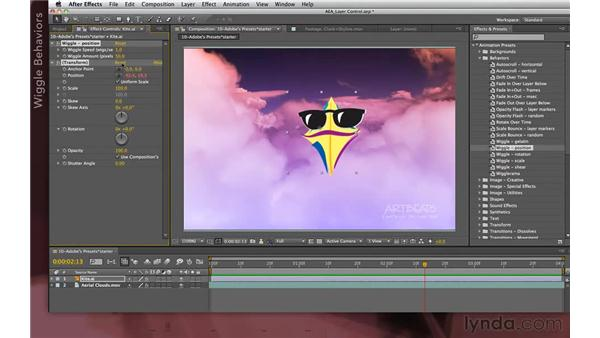 Working with behaviors: After Effects Apprentice 04: Layer Control