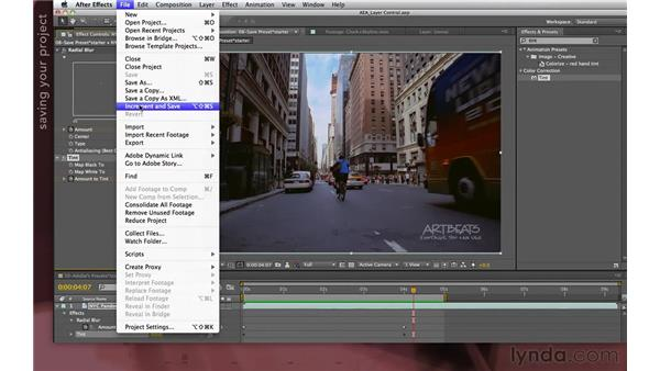 Creating and saving presets: After Effects Apprentice 04: Layer Control