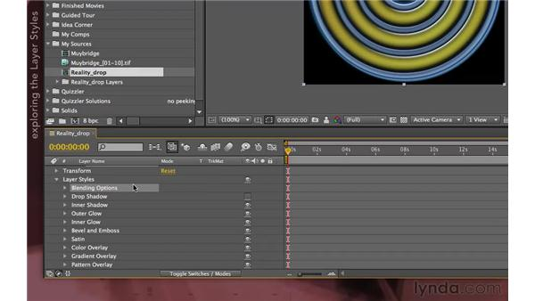 Importing Photoshop files with layer styles: After Effects Apprentice 04: Layer Control