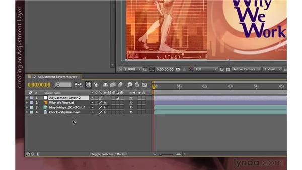 Using adjustment layers: After Effects Apprentice 04: Layer Control
