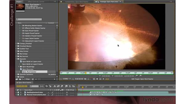 Quizzler challenges: After Effects Apprentice 04: Layer Control