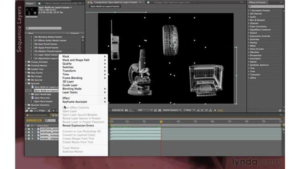 Quizzler solution two: Sequenced fades: After Effects Apprentice 04: Layer Control