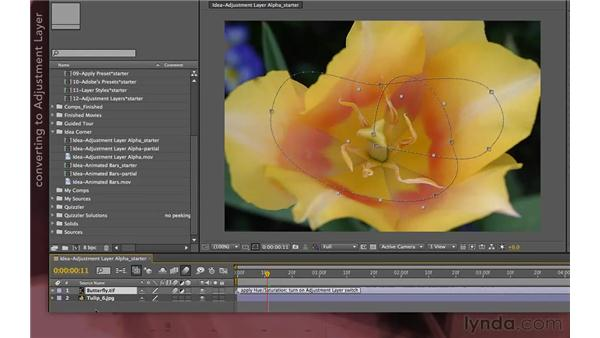 Idea corner one: Adjustment layer shapes: After Effects Apprentice 04: Layer Control