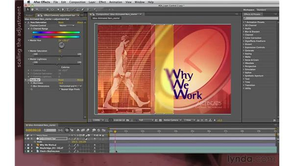 Idea corner two: Creating a traveling glass bar: After Effects Apprentice 04: Layer Control