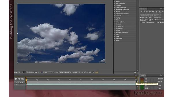 Looping footage by crossfading: After Effects Apprentice 04: Layer Control