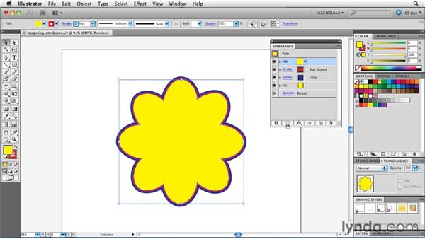 Adding multiple attributes to a single object: Illustrator Insider Training: Rethinking the Essentials