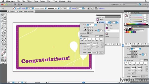 Using multiple strokes to create a border design: Illustrator Insider Training: Rethinking the Essentials