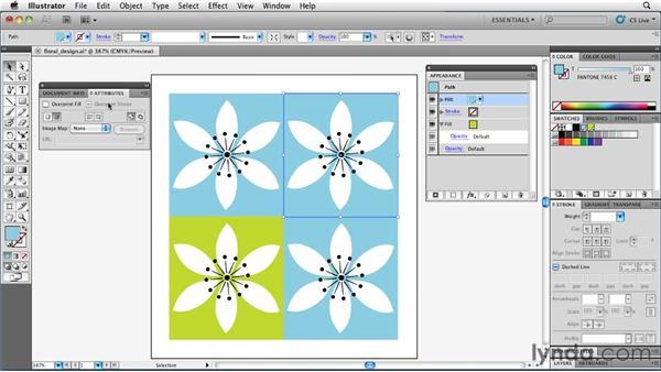 Using multiple fills to mix spot colors: Illustrator Insider Training: Rethinking the Essentials