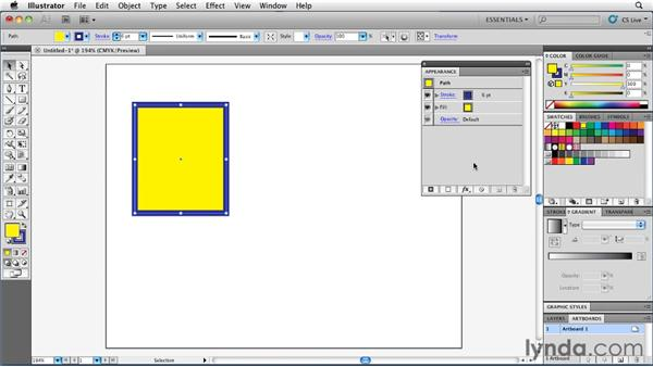Basic appearance vs. complex appearance: Illustrator Insider Training: Rethinking the Essentials
