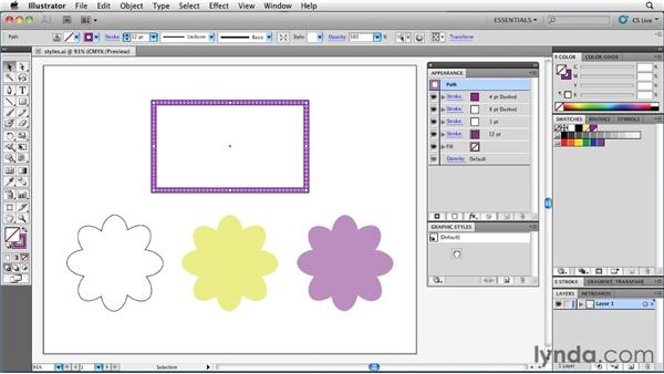 Saving appearances with graphic styles: Illustrator Insider Training: Rethinking the Essentials
