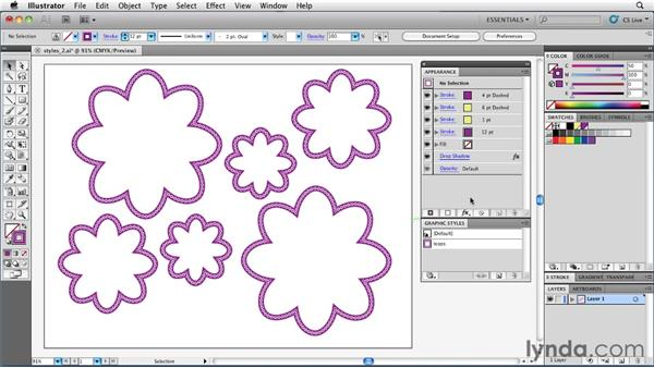 Changing artwork by modifying a graphic style: Illustrator Insider Training: Rethinking the Essentials