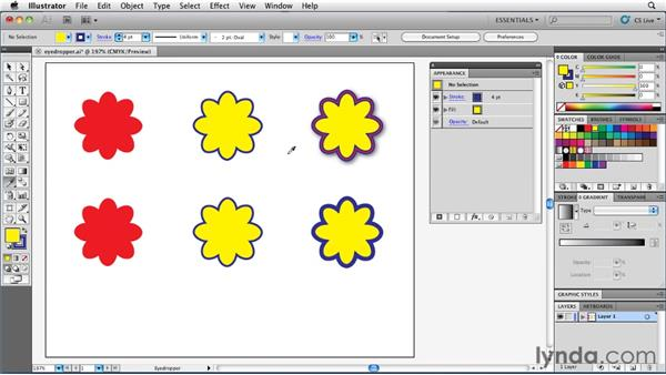 Copying appearances with the Eyedropper tool: Illustrator Insider Training: Rethinking the Essentials