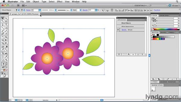 Knowing the dangers of ungrouping artwork: Illustrator Insider Training: Rethinking the Essentials