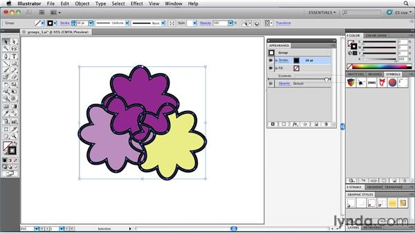 Adding a stroke to a group: Illustrator Insider Training: Rethinking the Essentials