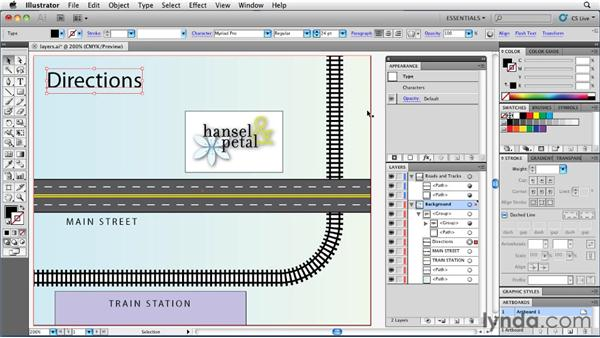 Learning to use the Layers and Objects panel: Illustrator Insider Training: Rethinking the Essentials