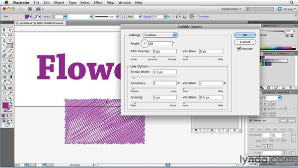 Creating a crosshatch effect with Scribble: Illustrator Insider Training: Rethinking the Essentials