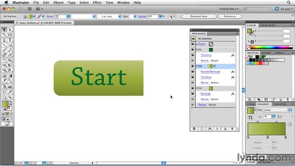 Creating buttons with Round Corners and Transform: Illustrator Insider Training: Rethinking the Essentials