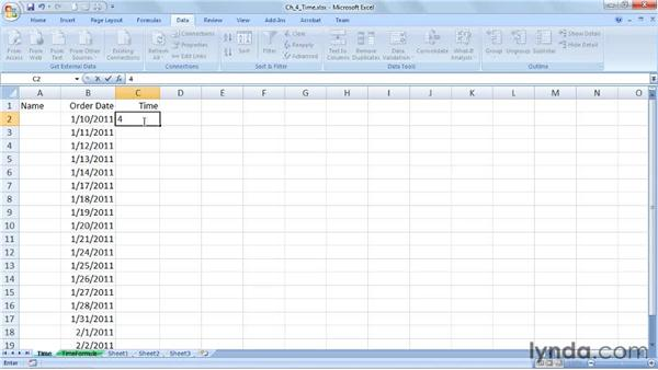 Limiting time entries with basic controls: Excel 2007: Data Validation in Depth