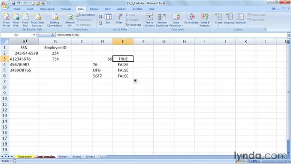 Limiting text length with formulas: Excel 2007: Data Validation in Depth