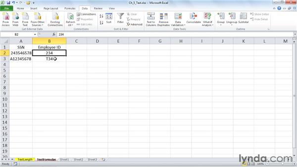 Limiting text length with formulas: Excel 2010: Data Validation in Depth