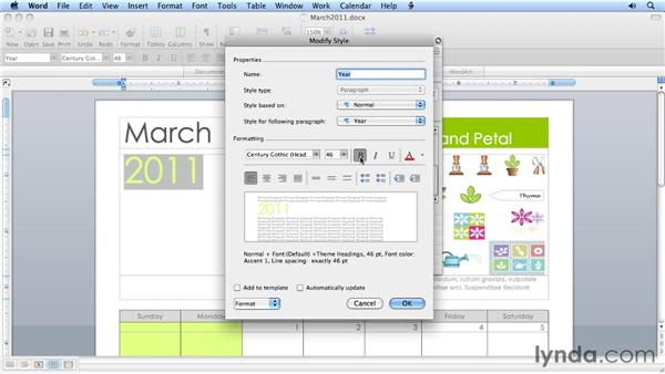 Formatting and styles using the toolbox: Migrating from Word 2008 for Mac to Word 2011