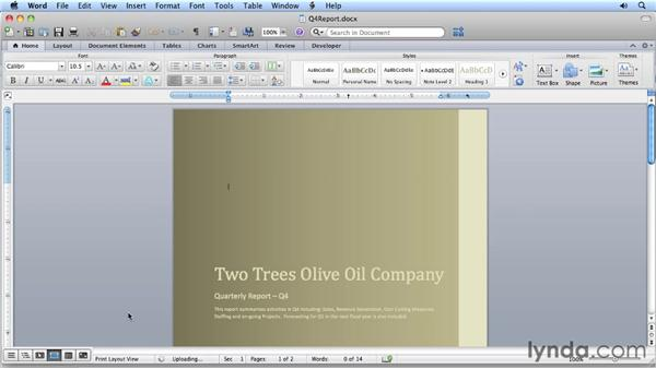 Saving documents to the cloud: Migrating from Word 2008 for Mac to Word 2011