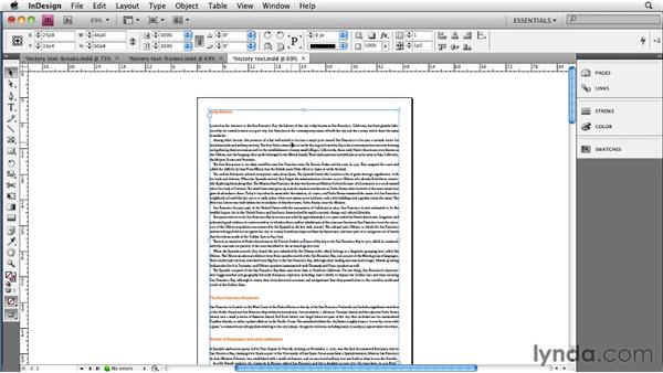 Using the Book feature to create chapters: InDesign CS4 to EPUB, Kindle, and iPad