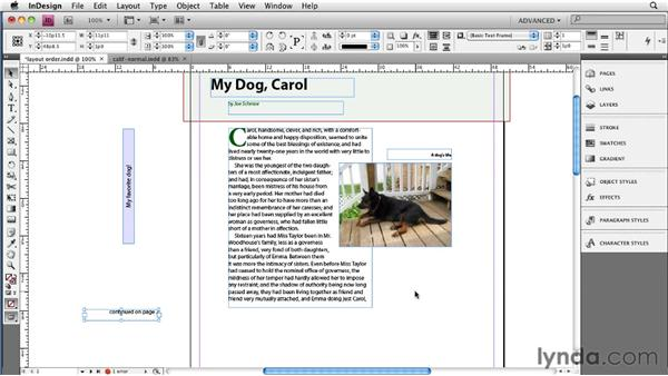 Managing the reading order in the layout: InDesign CS4 to EPUB, Kindle, and iPad