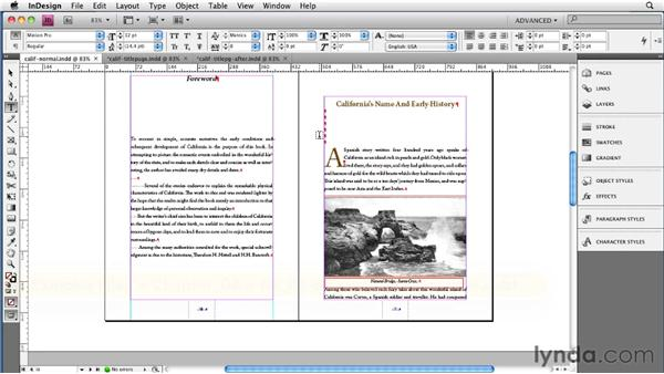 Cleaning up the text flow: InDesign CS4 to EPUB, Kindle, and iPad
