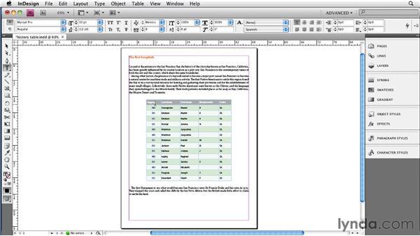 Modifying tables: InDesign CS4 to EPUB, Kindle, and iPad