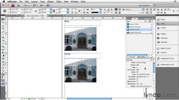 Manually optimizing images: InDesign CS4 to EPUB, Kindle, and iPad