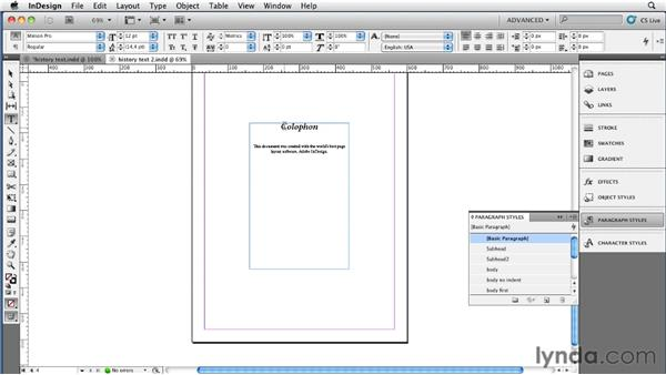 Creating chapter breaks via a custom TOC style: InDesign CS5 to EPUB, Kindle, and iPad