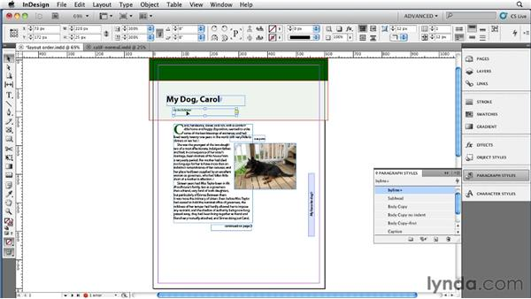 Using the layout to manage content flow: InDesign CS5 to EPUB, Kindle, and iPad