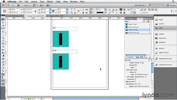 Manually optimizing images: InDesign CS5 to EPUB, Kindle, and iPad