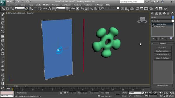 Working with Soft Body Modifier types: Getting Started with Reactor in 3ds Max